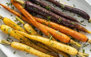 Spice-roasted carrots Image