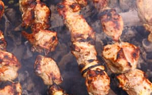 shish kebabs Ivan Chikunov Dreamstime. For article on humorous take on food history and origins Image