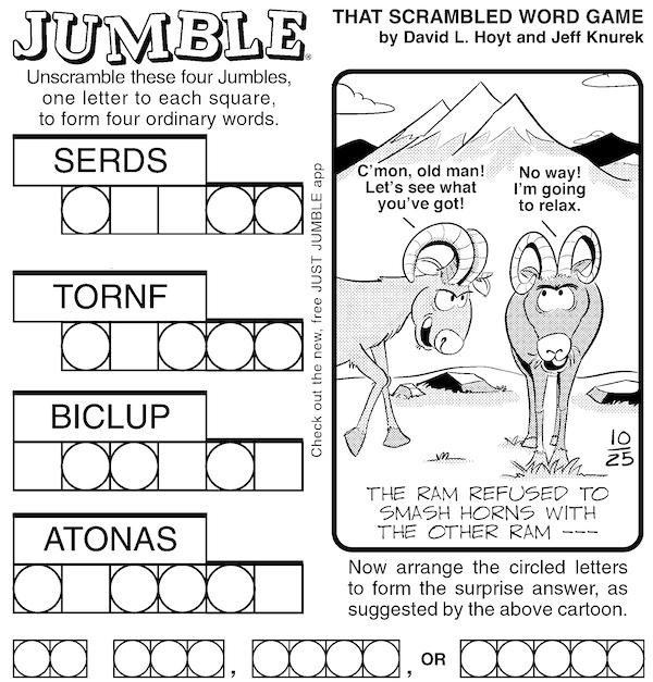 Jumble puzzle fun and brain building - classic Jumble