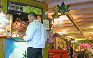 A coffeeshop in Amsterdam, for article on the perspectives of pot in the Netherlands Image