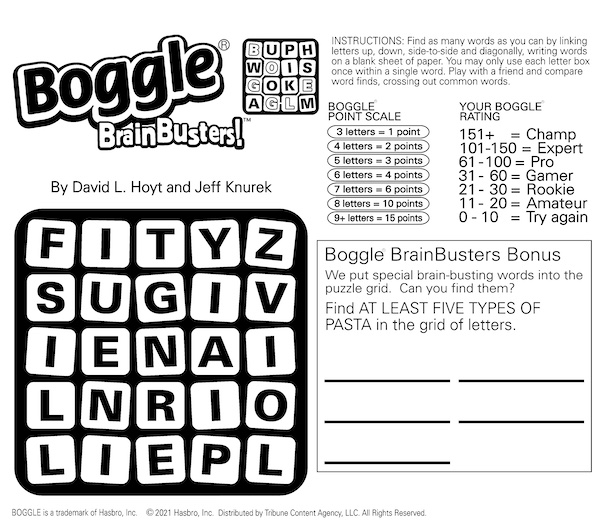 Brain fun with the Boggle puzzle