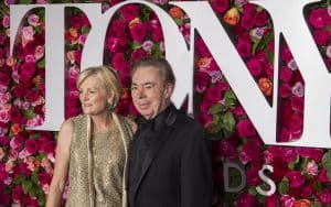 Andrew Lloyd Webber at the Tony Awards with his wife, Madeleine Gurdon. For article on Conversations with Andrew Lloyd Webber Image