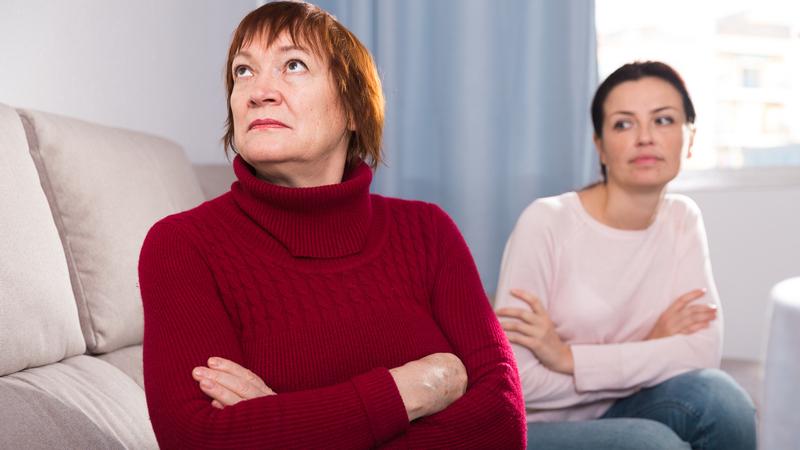 Quarreling sisters Image