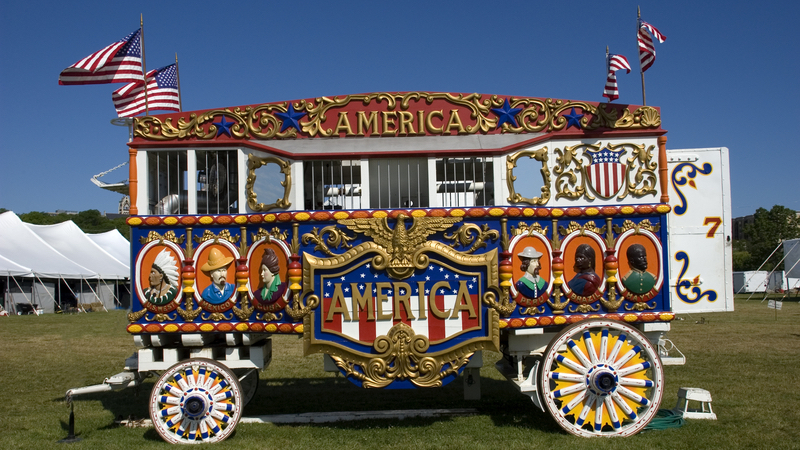 Circus trailer chefs Image