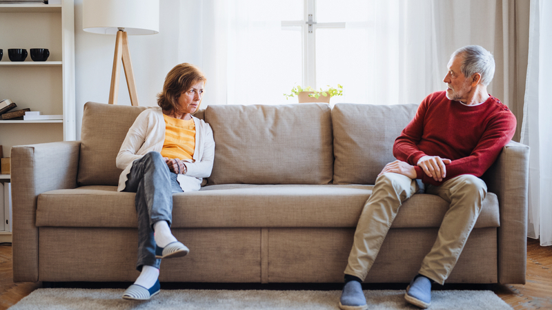 Former relationship couple now fighting Image
