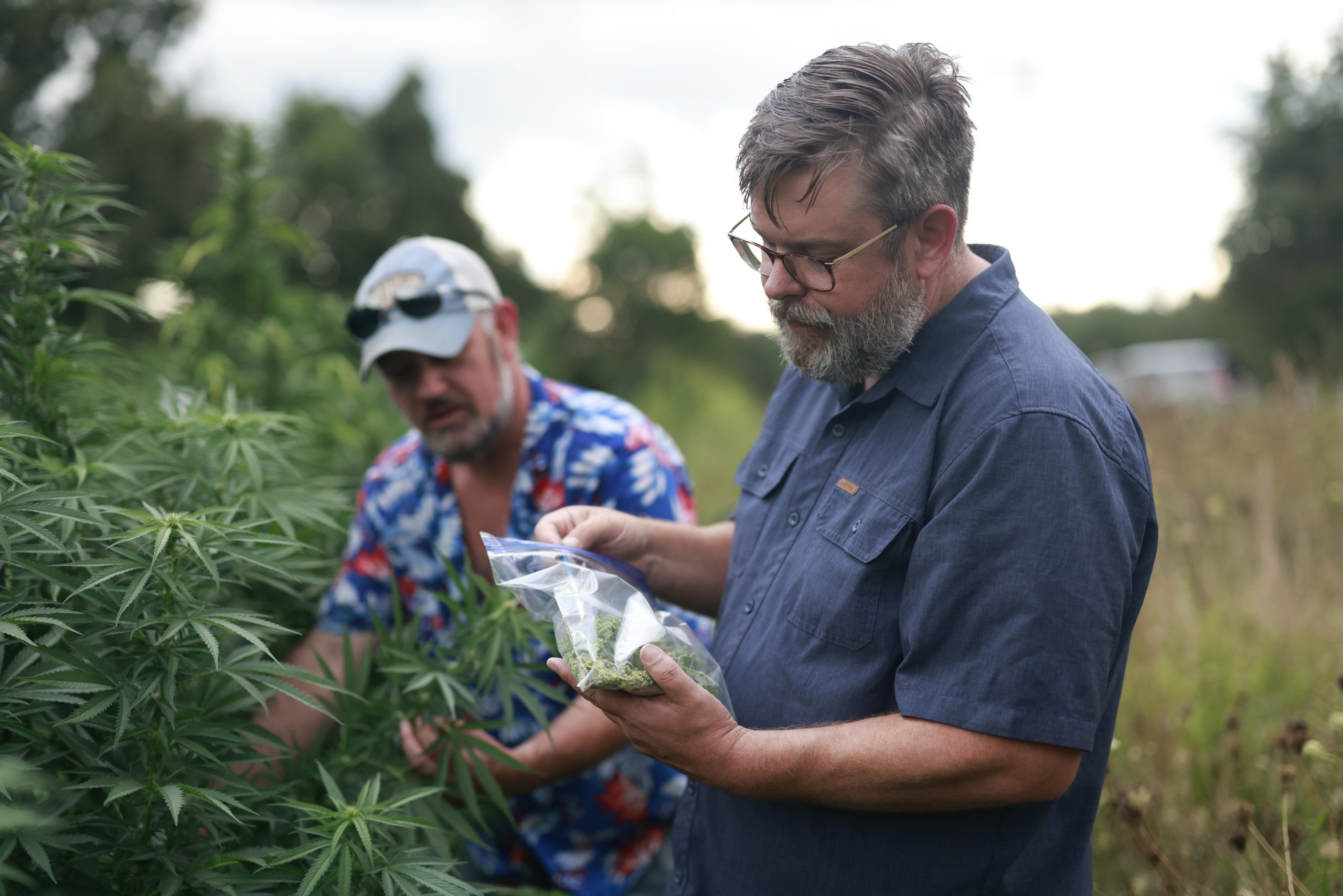 Cameron Trickey (left) and Reed Anderson of Kame Naturals CBD products (image courtesy Sarah Trickey, Kame Naturals)