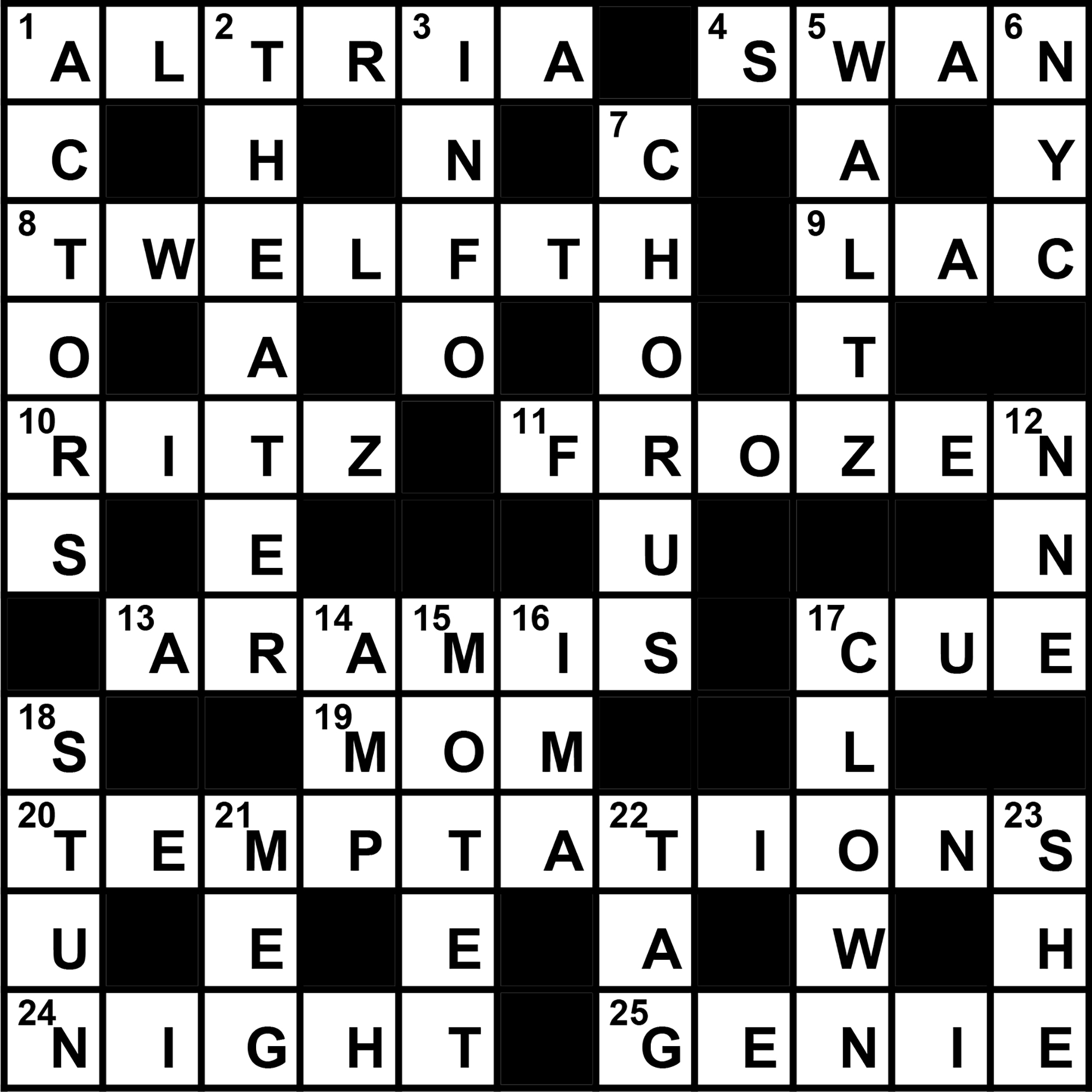 Behind the Scenes crossword puzzle solution